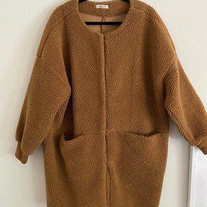 Madewell Bonded Sherpa Teddy Cocoon Coat